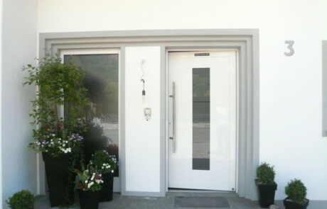 Gestaltung Eingang Wärmedämmung Oberhof