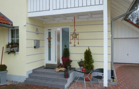 Gestaltung Eingang Neubau