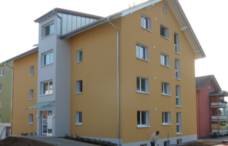Neubau Wärmedämmung Farbgestaltung Laufenburg