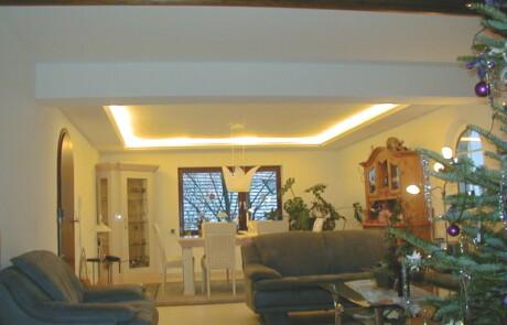 Renovierung Decke indirekte Beleuchtung