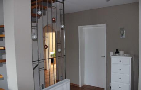 Renovierung Treppenhaus Oberhof Farbgestaltung