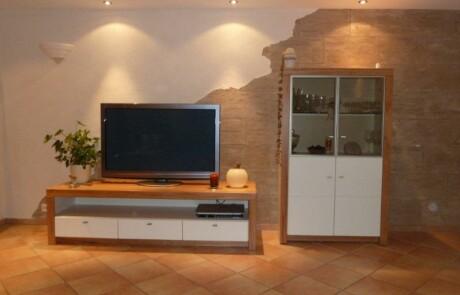 Renovierung Wohnzimmer Steinoptik Niederhof