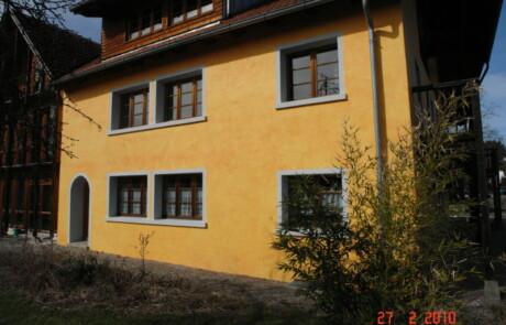Sanierung Wohnhaus Wärmedämmung Lasur Niederhof